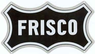 "8"" Die-Cut Metal Sign ""Frisco"""