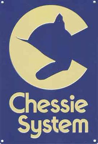 "8"" Die-Cut Metal Sign ""Chessie"""