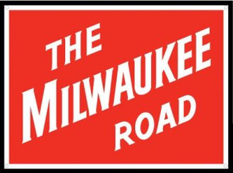 "8"" Die-Cut Metal Sign ""The Milwaukee Road"""