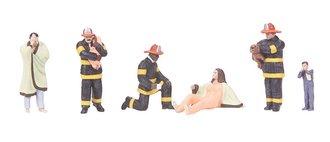 Firemen (3) & Rescued Family (3)