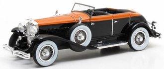 1:43 1934 Duesenberg Model J Riviera Phaeton by Brunn (Black/Orange)