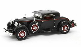 1:43 1930 Stutz Model M Supercharged Lancefield Coupe w/Open Trunk (Black)