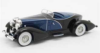 1:43 1931 Duesenberg J SWB French True Speedster by Figoni #J-465-2509 (Black/Blue)