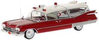 1:43 1959 Cadillac S&S Superior Landau Ambulance (Red/White)