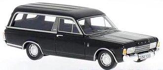 1:43 1969 Ford Taunus P7 Pollmann Funeral Vehicle (Black)
