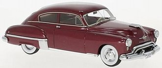 1:43 1950 Oldsmobile Rocket 88 Futuramic 2-Door Club Coupe (Red)