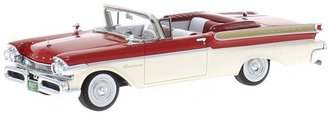 1:43 1957 Mercury Turnpike Convertible (Red/White)