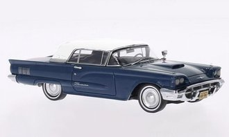1:43 1960 Ford Thunderbird Hardtop (Dark Blue Metallic/White)