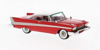 1:43 1958 Plymouth Hardtop (Red/White)