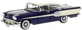 1958 Pontiac Star Chief 4-Door Sedan (Dark Blue/White)