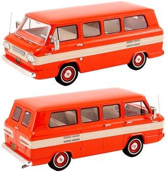 1963 Chevy Corvair Window Van (Red/White)