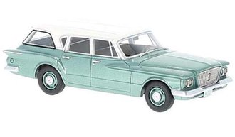 1:43 1960 Plymouth Valiant Wagon (Green Metallic/White)