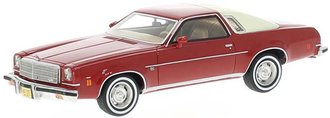 1:43 1974 Chevy Malibu 2-Door (Red/Light Beige)