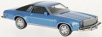 1:43 1974 Chevy Malibu 2-Door (Blue Metallic/Black)