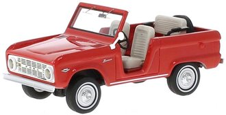 1:43 1966 Ford Bronco Roadster (Red)