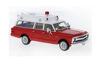 "1970 Chevrolet Suburban Ambulance (Red/White) ""Hillside Fire Department"""