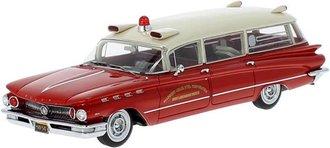 1:43 1960 Buick Electra 225 Ambulance (Red/White)