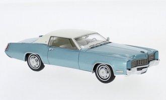 1:43 1967 Cadillac Eldorado Coupe (Turquoise Metallic/White)