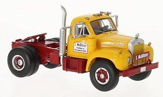 1:64 1957 Mack B-61T Single-Axle Tractor (Yellow/Red)