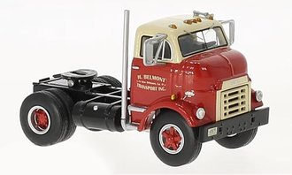 1:64 GMC C 950 Cannonball Day Cab (Red/Beige)