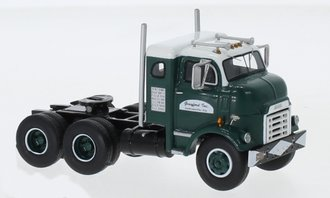 1:64 1954 GMC 950 Cannonball Sleeper Cab (Dark Green/White)