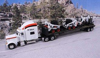Peterbilt 379 w/Flatbed, Bobcat S750 Skid Steer (2) & Bobcat E35 Compact Excavators (2)