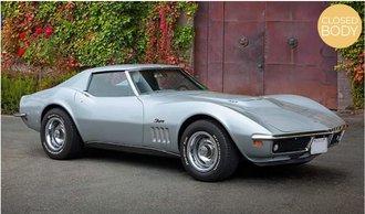 1:18 1969 Chevrolet Corvette Coupe (Silver)