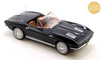 1:18 1963 Chevrolet Corvette Sting Ray Cabriolet (Black)