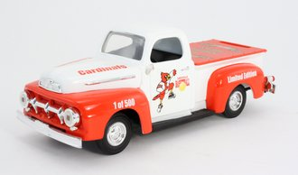 """1951 Ford F-1 Pickup """"Louisville Cardinals"""" (Bank) (White/Red)"""