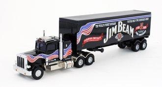 "Peterbilt 359 w/Van Trailer ""Jim Beam 200th Anniversary"" (Black)"