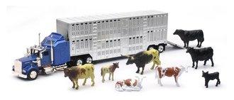 1:43 Kenworth W900 w/Livestock Trailer & Cattle (1:32)