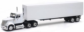 1:43 International LoneStar w/Van Trailer (White - Undecorated)