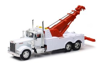 1:32 Kenworth W900 Wrecker (White/Red)
