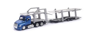 1:43 Freightliner Cascadia Auto Carrier (Blue/Gray)