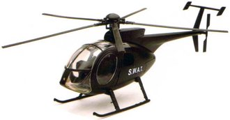 "1:32 NH-500 Helicopter ""S.W.A.T."" (Black)"