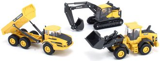"""1:64 Volvo Construction Playset (Set of 3) (5½"""" Long Each)"""