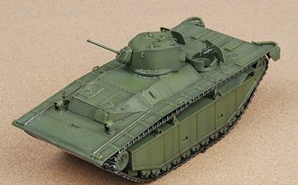 """FMC Corporation LVT(A)-1 Alligator """"US Army, Pacific Theater, 1945"""" w/Diorama Background Image"""