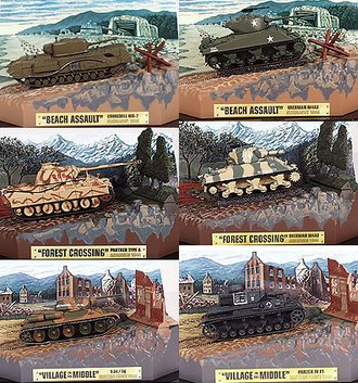 1:72 Matchbox Collectibles Military Tank Collection (Set of 6)