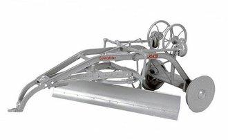 Caterpillar Terracer w/Flanged Steel Wheels & Gooseneck Hitch (Grey)