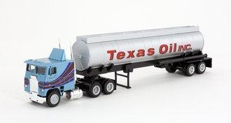 "1:87 Tractor Trailer - COE Tractor w/Tanker ""Texas Oil Inc."""