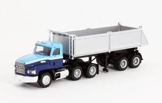 1:87 Mack Dump Truck (Blue/Silver)