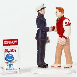 Snow Village - Congratulations...Recruit