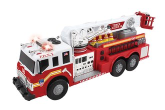 "FDNY 27"" Tower Ladder Fire Truck w/Lights, Sounds & Working Water Cannon"