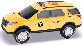 "1:24 Ford Explorer ""NYC Taxi"" (Motorized) w/Lights & Sound"