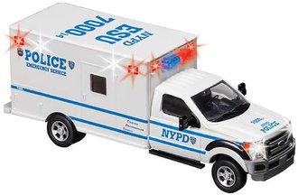 1:48 NYPD Emergency Service Truck w/Lights
