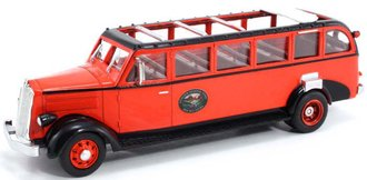 "1936 White Motors 706 Tour Bus ""Glacier National Park"" (Red)"