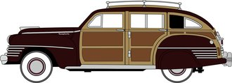 1942 Chrysler Town & Country Woody Wagon (Regal Maroon)