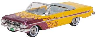 1:87 1961 Chevrolet Impala Convertible Hot Rod (Yellow/Purple)