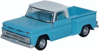 1:87 1965 Chevrolet Stepside Pickup (Light Blue/White)