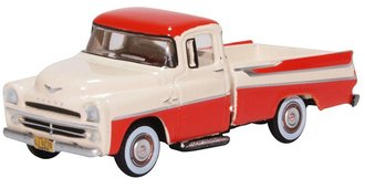 1:87 1957 Dodge D100 Sweptside Pickup (Tropical Coral/Glacier White)
